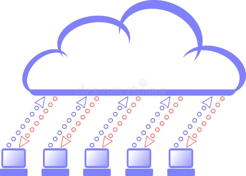 Download Cloud computing stock vector. Image of internet, upload - 12844034