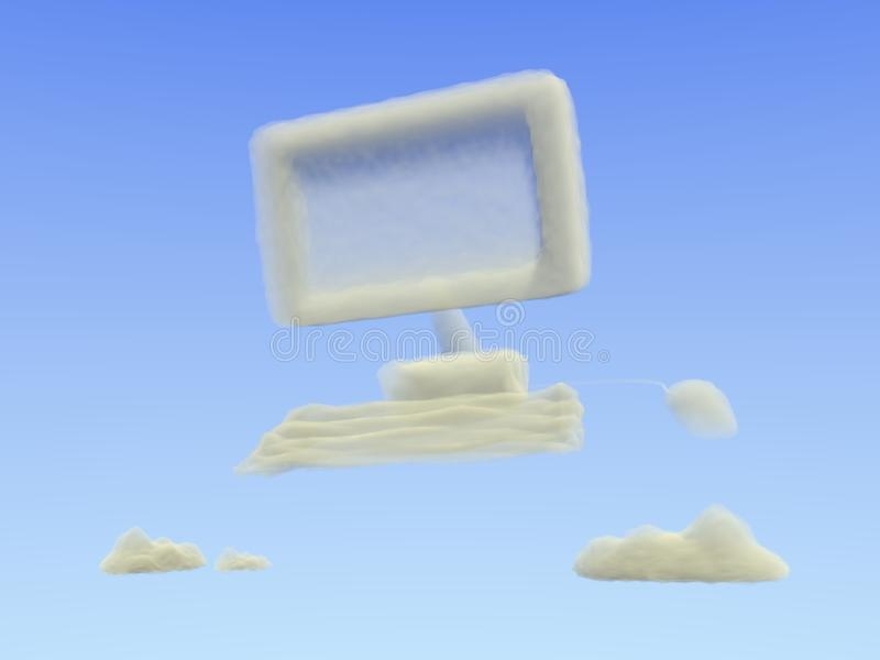 Cloud Computing. Concept for cloud computing. Could be used to represent populat technology concepts for Infrastructure as a Service (IaaS) or Software as a stock photography