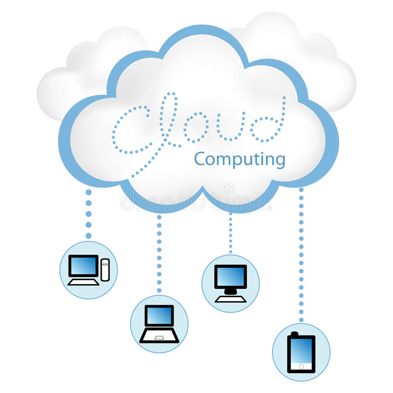 Download Cloud Computing stock vector. Image of information, computing - 18156328