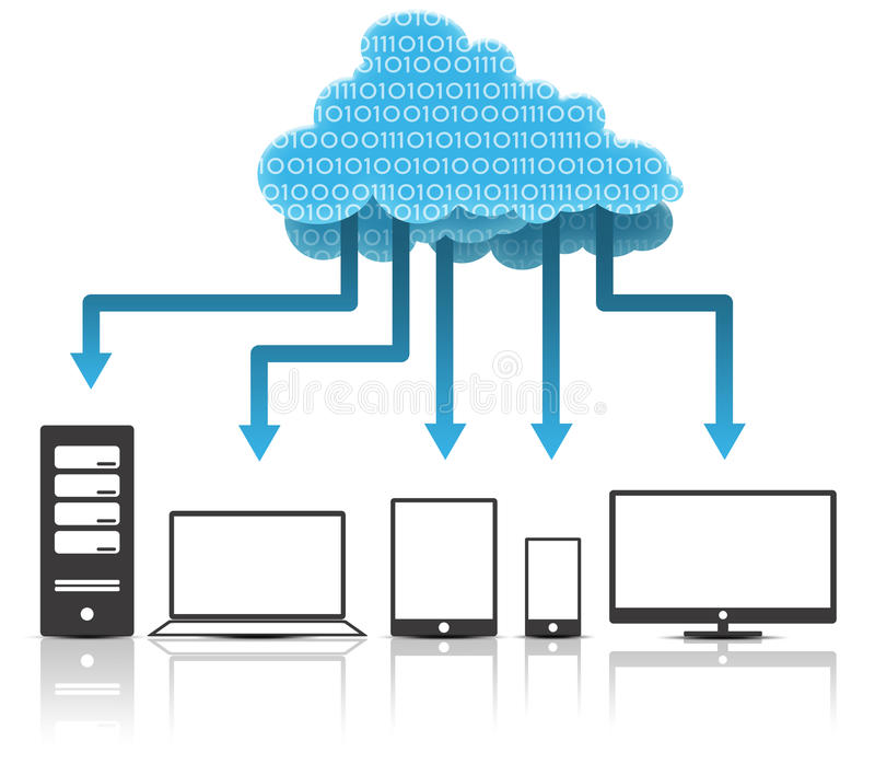 Download Cloud Computing stock illustration. Image of illustration - 20984281