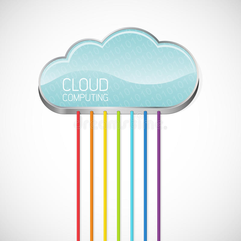 Download Cloud computing stock vector. Illustration of desktop - 21488844