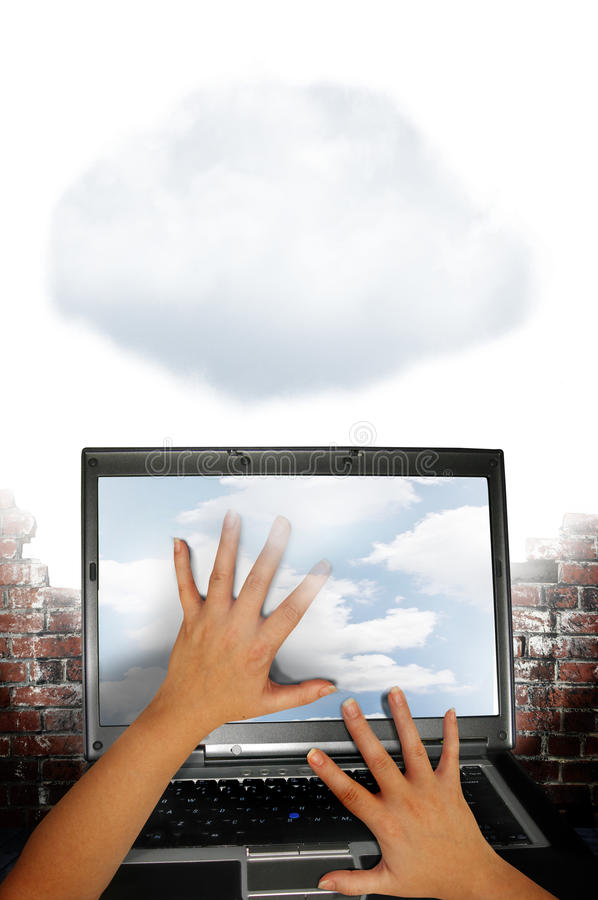 Download Cloud computing stock image. Image of laptop, capacity - 23362279