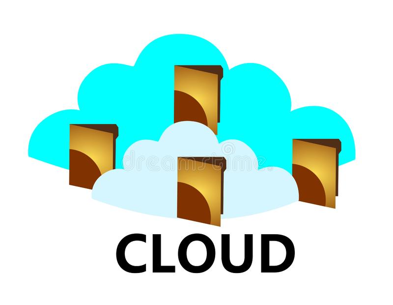 Download Cloud computing stock illustration. Illustration of data - 23709280