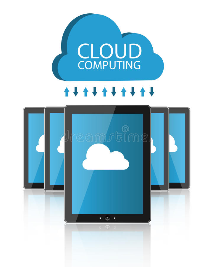 Download Cloud computing stock vector. Image of style, background - 25341919