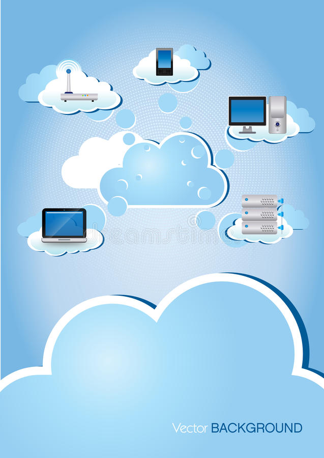Download Cloud Computing stock vector. Image of backdrop, space - 25976658