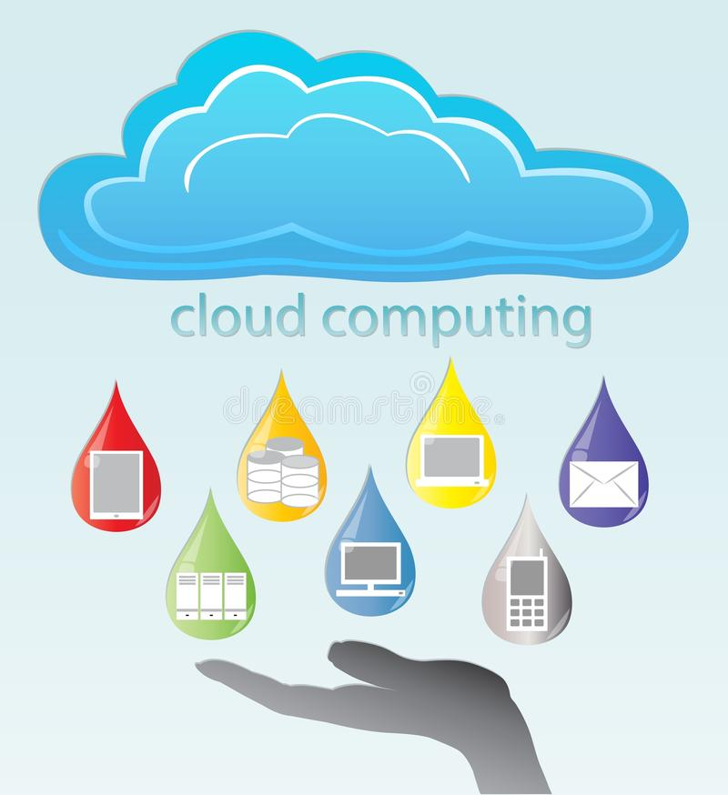 Download Cloud computing stock vector. Illustration of communication - 26458164