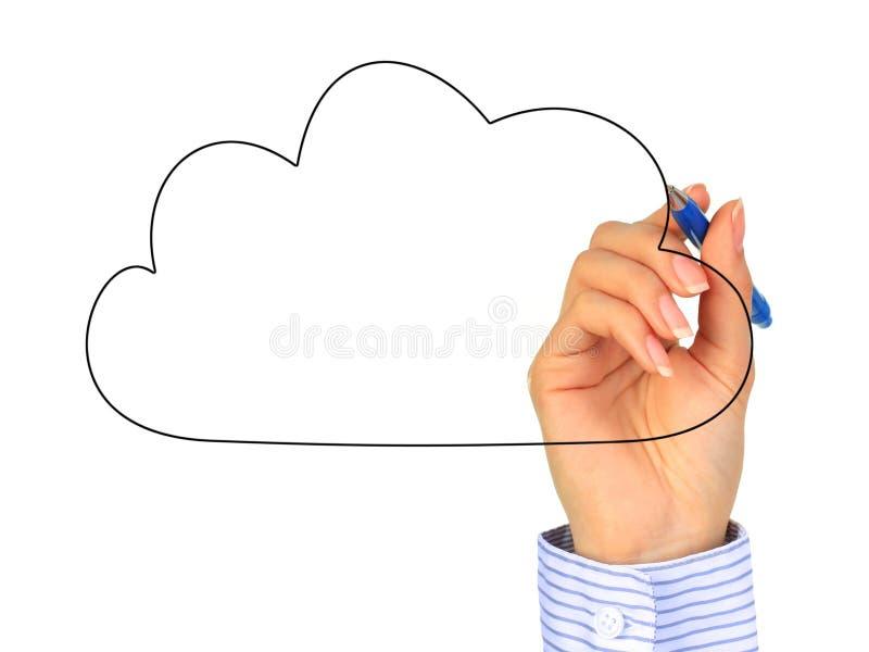 Cloud computing. Cloud computing concept. Photo collage