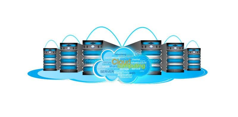 Cloud computing illustration stock