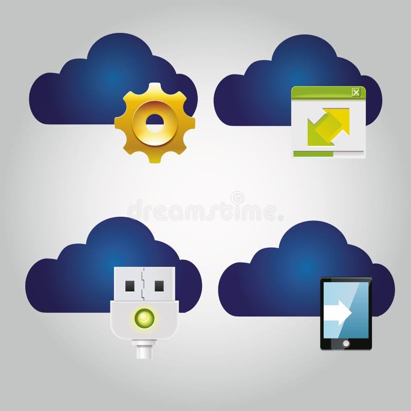 Cloud computing illustration libre de droits