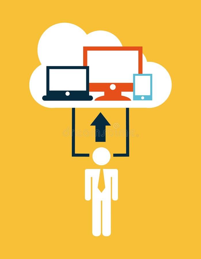Cloud computing illustration de vecteur