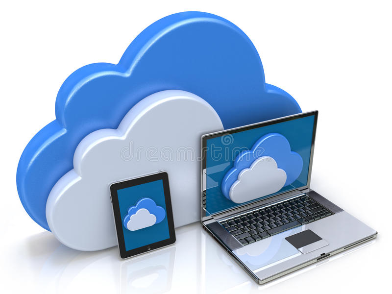 Cloud Computing illustration stock