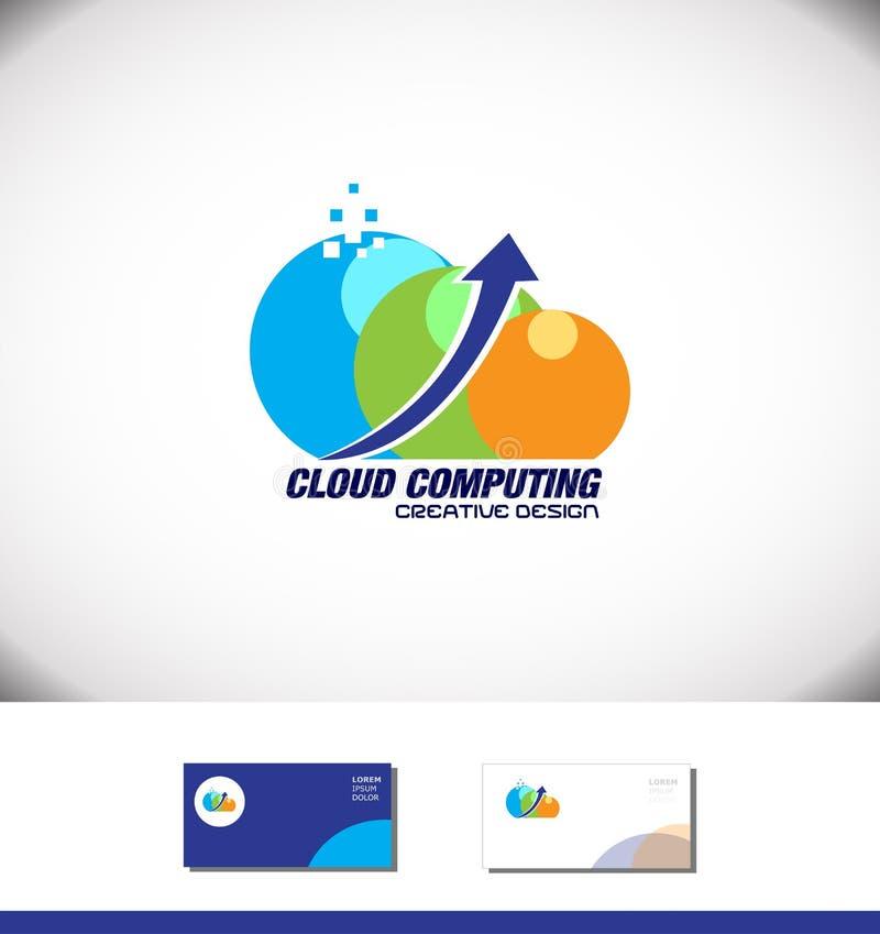 Cloud computing arrow logo stock vector. Illustration of blue - 72985862