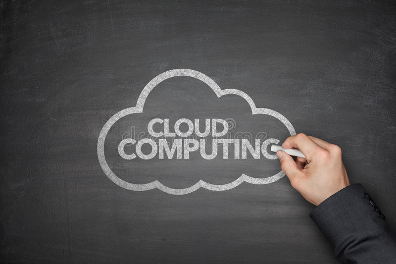 Cloud computing on Blackboard stock photography