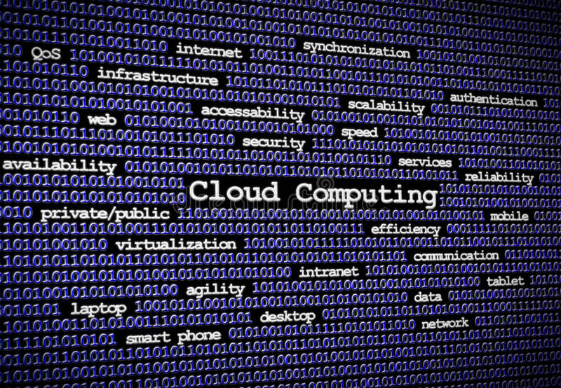 Cloud computing Blue close. An image illustrating the concepts of cloud computing royalty free stock photography