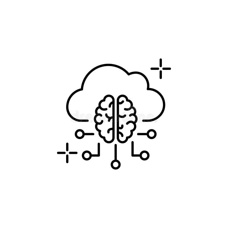 Cloud computing brain icon. Element of brain concept vector illustration