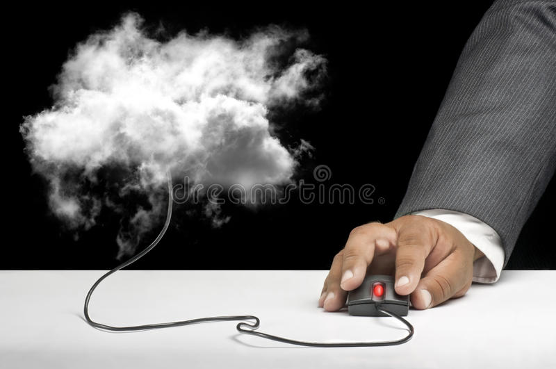 Download Cloud computing concept stock illustration. Image of mouse - 20400775
