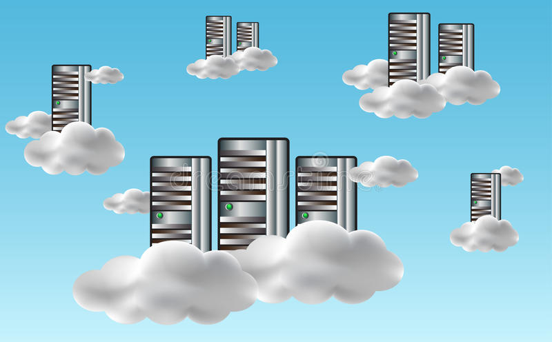 Download Cloud computing concept stock vector. Image of hosting - 21376005