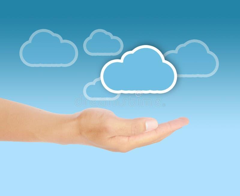 Cloud computing concept. Blue cloud cloud computing concept connect connection stock images