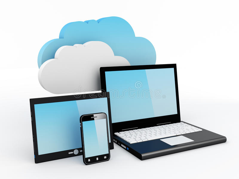 Download Cloud Computing Concept stock illustration. Image of accessibility - 24347940