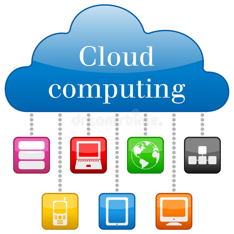 Cloud Computing Concept. With colorful icons. Eps file available vector illustration