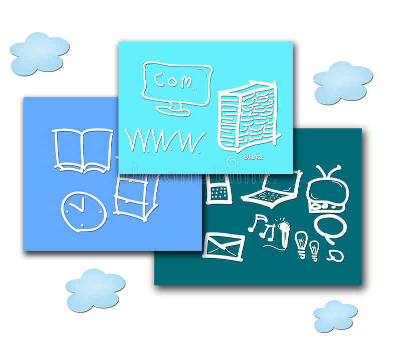 Download Cloud computing concept stock illustration. Image of icon - 28581067