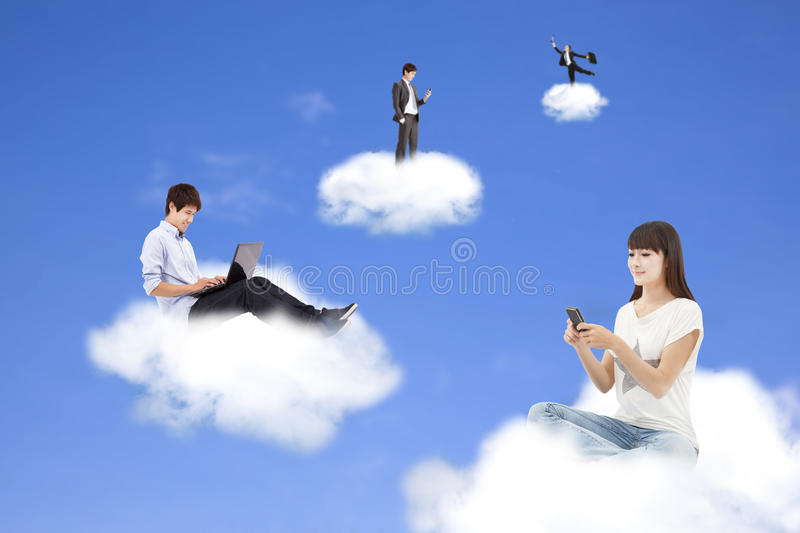 Cloud computing concept. And technology lifestyle stock images
