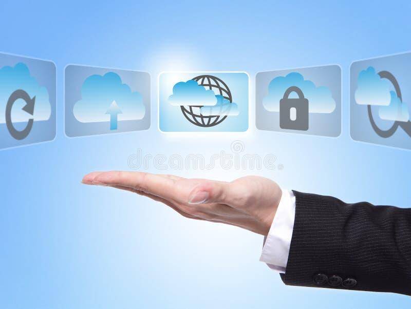 Download Cloud computing concept stock illustration. Image of internet - 29043452