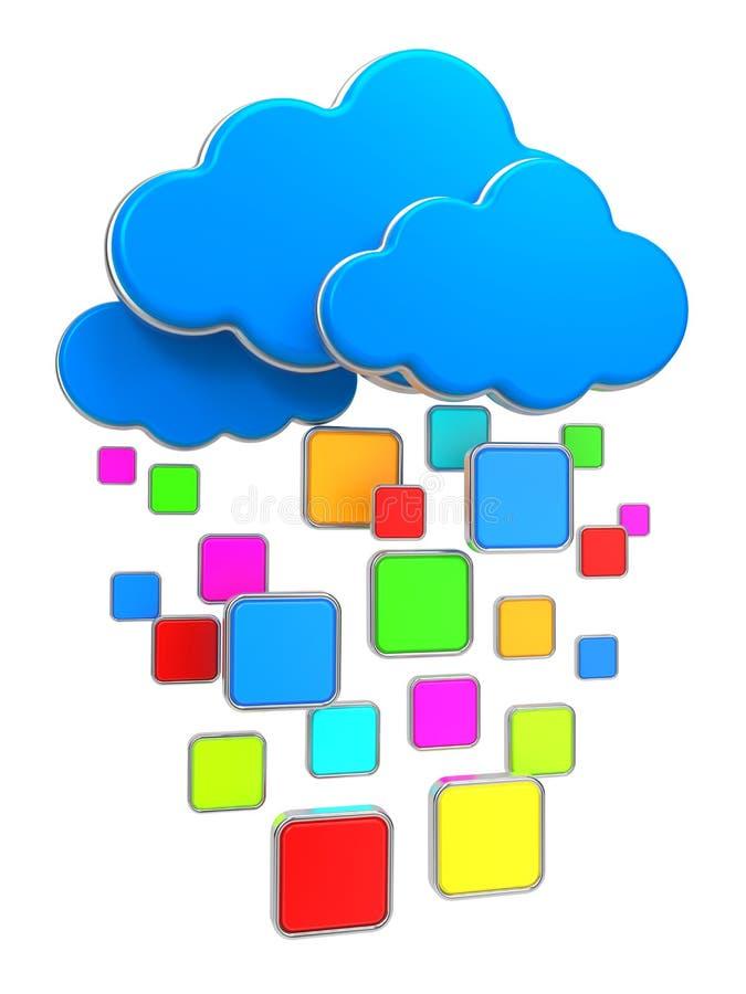 Cloud Computing Concept. Stock Photos