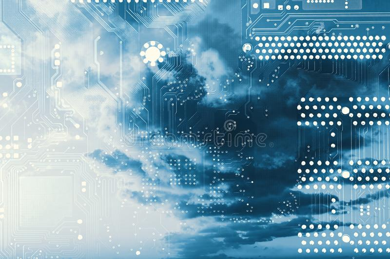 Cloud computing. Cloud computing concept. Abstract background stock photography