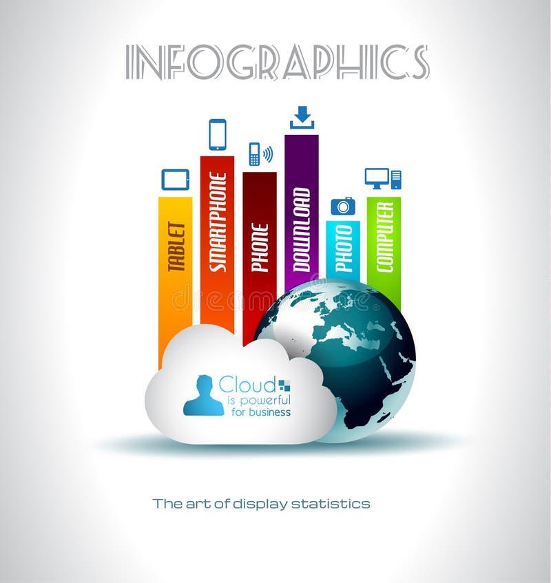 Cloud Computing concept background stock illustration