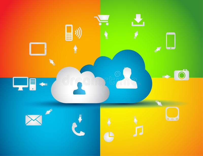 Cloud Computing concept background royalty free illustration