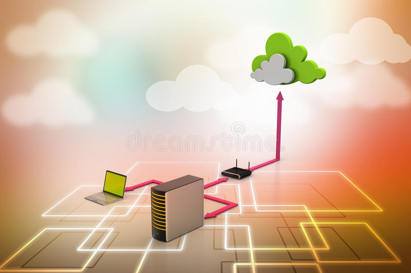 Cloud computing concept royalty free illustration