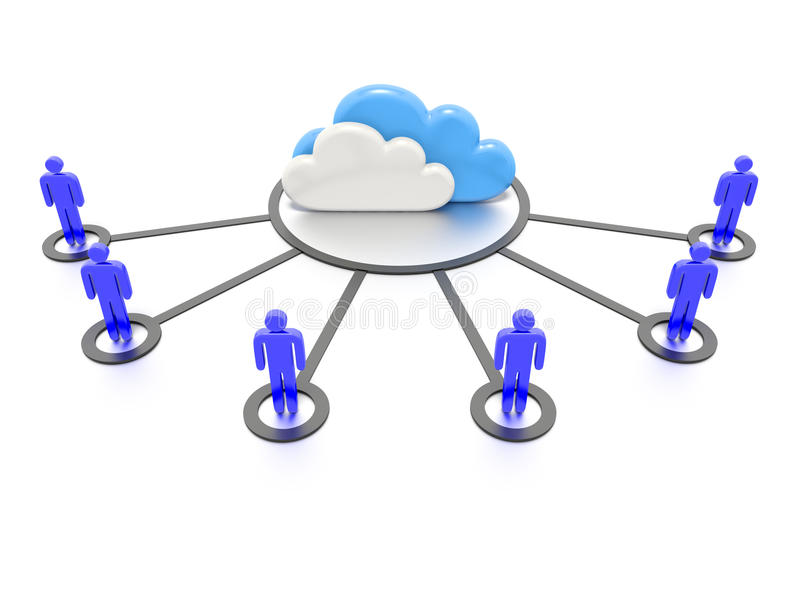 Download Cloud computing concept. stock illustration. Illustration of networking - 32338683