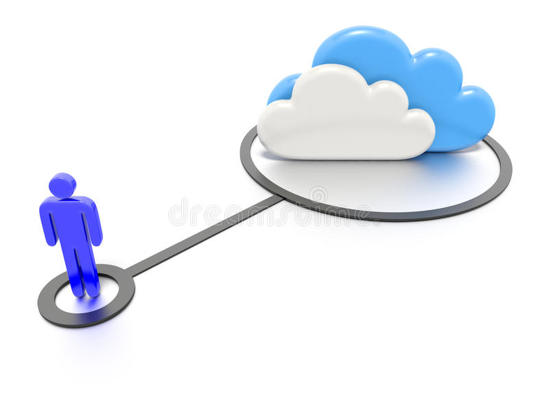 Download Cloud computing concept. stock illustration. Image of system - 32338748