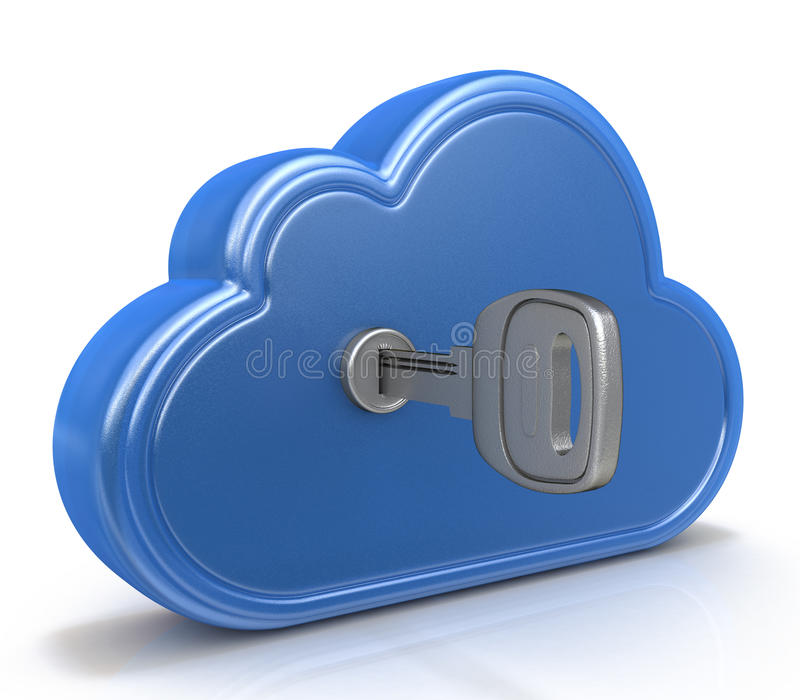 Cloud computing concept. In the design of information related to internet vector illustration