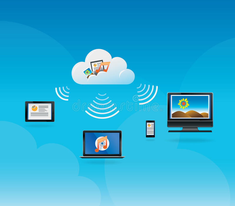 Download Cloud Computing Concept stock image. Image of media, file - 31570043