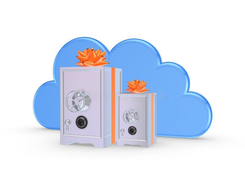 Cloud computing concept. stock photo