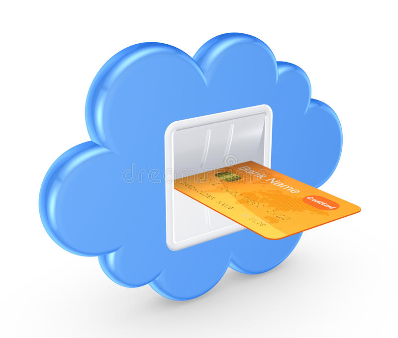 Cloud computing concept. royalty free illustration