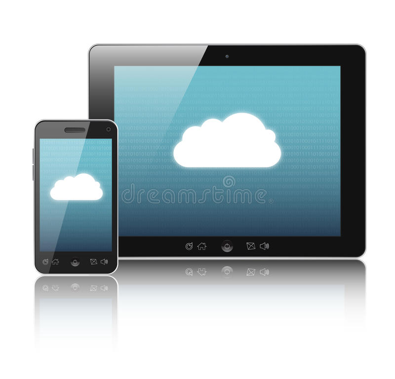 Download Cloud-computing connection stock illustration. Image of communication - 24032744
