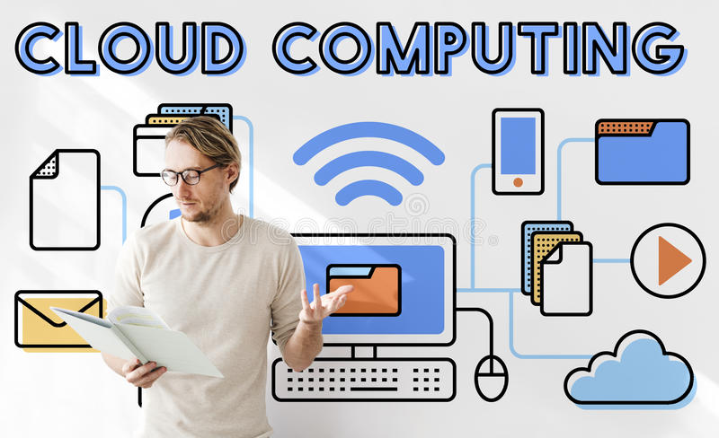 Cloud Computing Connection Data Information Storage Concept stock photo