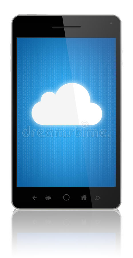 Download Cloud Computing Connection On Mobile Phone Royalty Free Stock Image - Image: 25327066