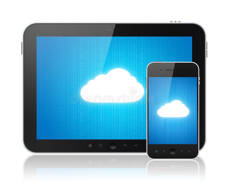 Download Cloud Computing Connection On Modern Devices Stock Illustration - Image: 23857233