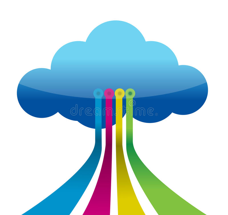 Download Cloud Computing Connections Stock Illustration - Image: 28052924