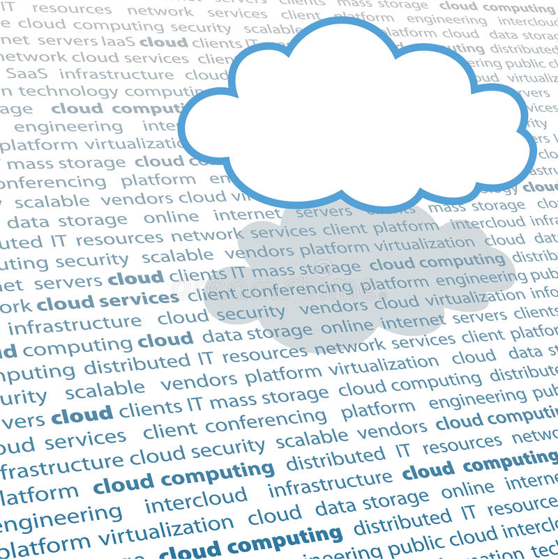 Download Cloud Computing Copy Space IT Text Page Stock Vector - Image: 19201956