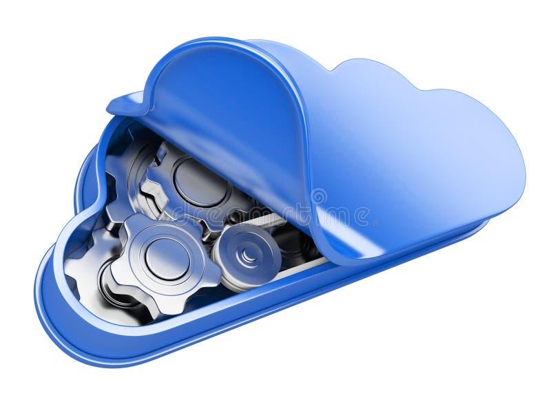 Download Cloud computing stock illustration. Image of information - 33407812