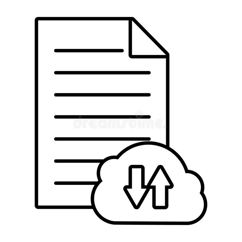Cloud computing data stock illustration