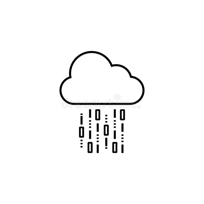 cloud, computing, data, network icon. Element of future pack for mobile concept and web apps icon. Thin line icon for website royalty free illustration