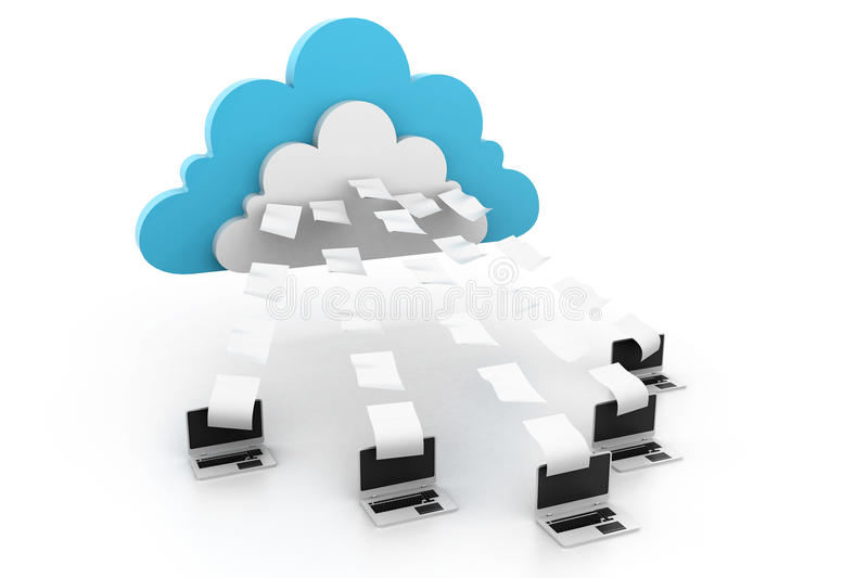 Cloud computing stock illustration