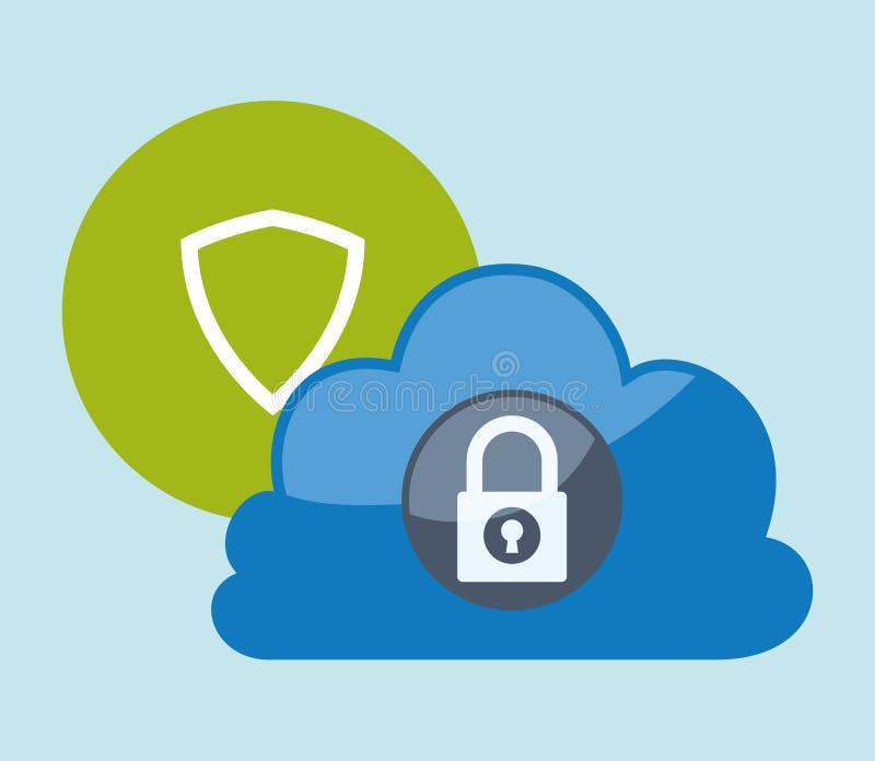 Cloud Computing design stock illustration