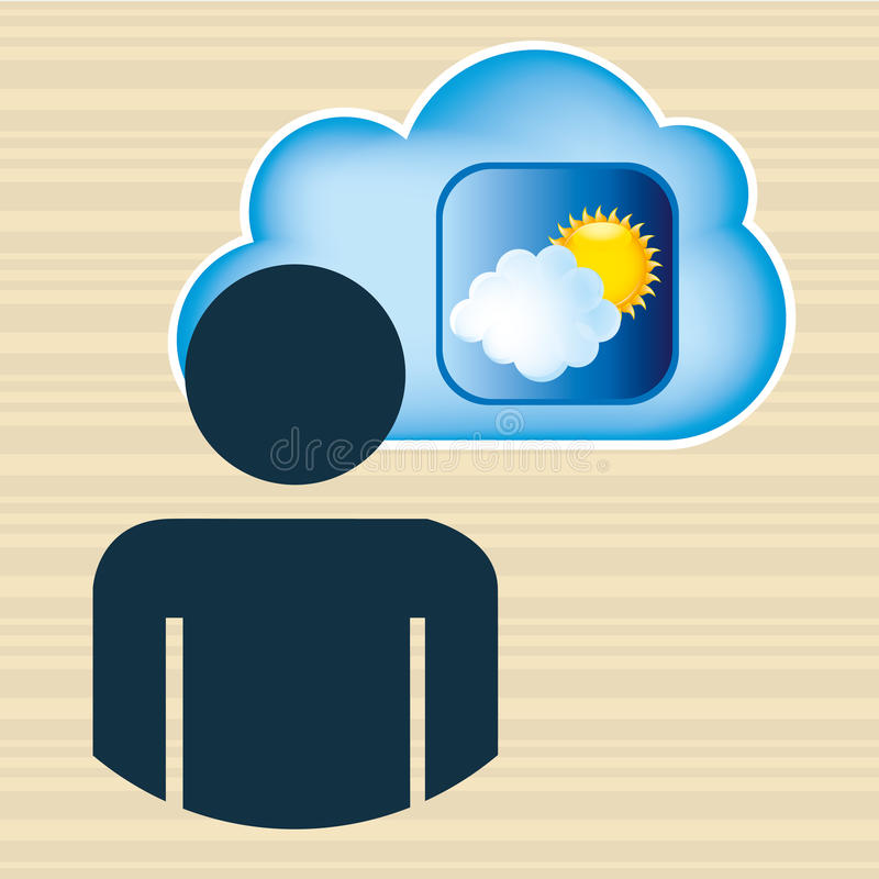 Cloud computing design. Illustration eps10 graphic vector illustration